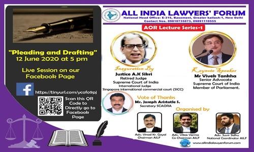 AILF Webinar: Pleading & Drafting [12th June]