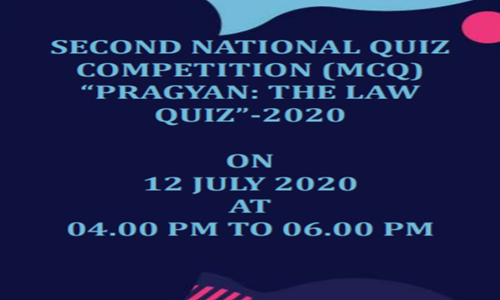 "2nd National Quiz Competition - ""PRAGYAN: The Law Quiz-2020"" At Modern College of Law"