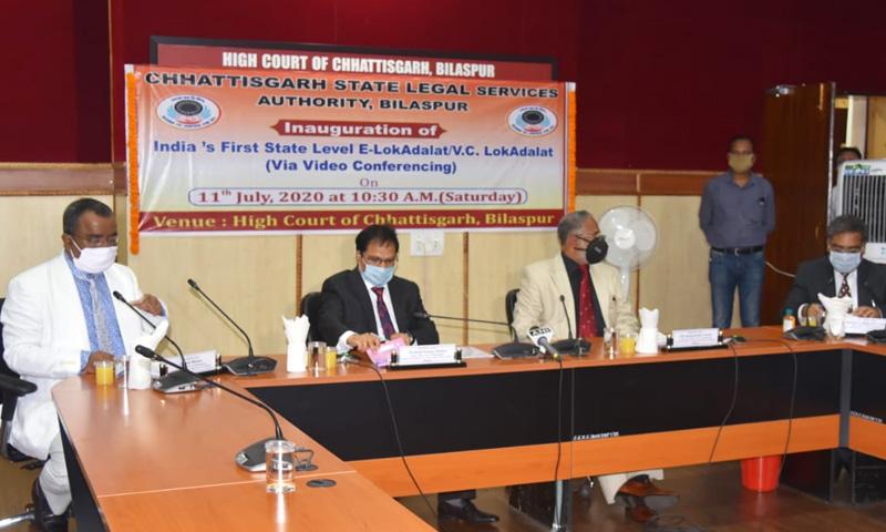 Chhattisgarh Organizes Indias First E-Lok Adalat; Settles 2270 Cases Via Video Conferencing