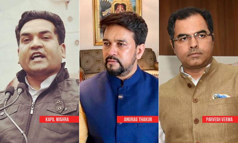No Evidence To Indicate Role Of Anurag Thakur, Kapil Mishra & Parvesh Verma In Delhi Riots: Delhi Police Tells Delhi HC