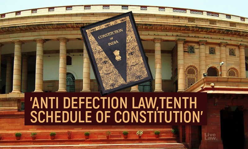 Anti-Defection Law : What Amounts To Voluntary Giving Up Of Party Membership Under Tenth Schedule Of Constitution?