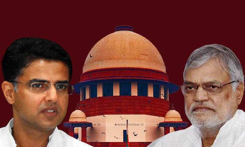 [Breaking] Rajasthan Speaker vs Sachin Pilot : SC Refuses To Stay Rajasthan HC Proceedings; HC Judgment To Be Subject To SC Orders [Read Order]