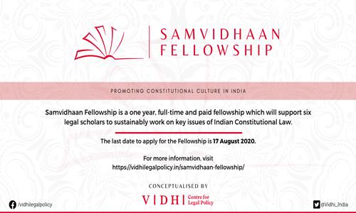 Applications Open: Vidhis Samvidhaan Fellowship