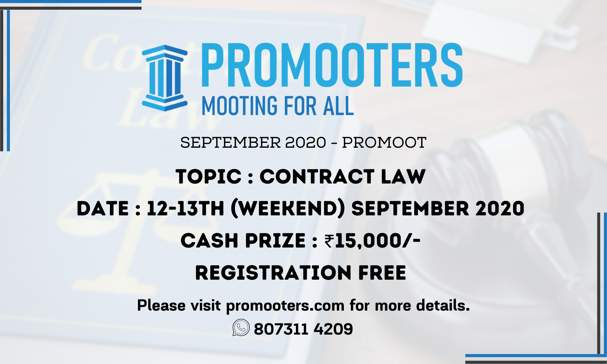 September 2020 ProMoot: Contract Law (Sept 12th & 13th)