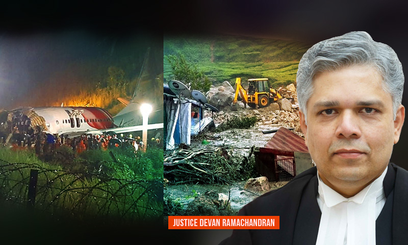 Kerala Twin Tragedies : HC Judge Pays Tribute To Victims