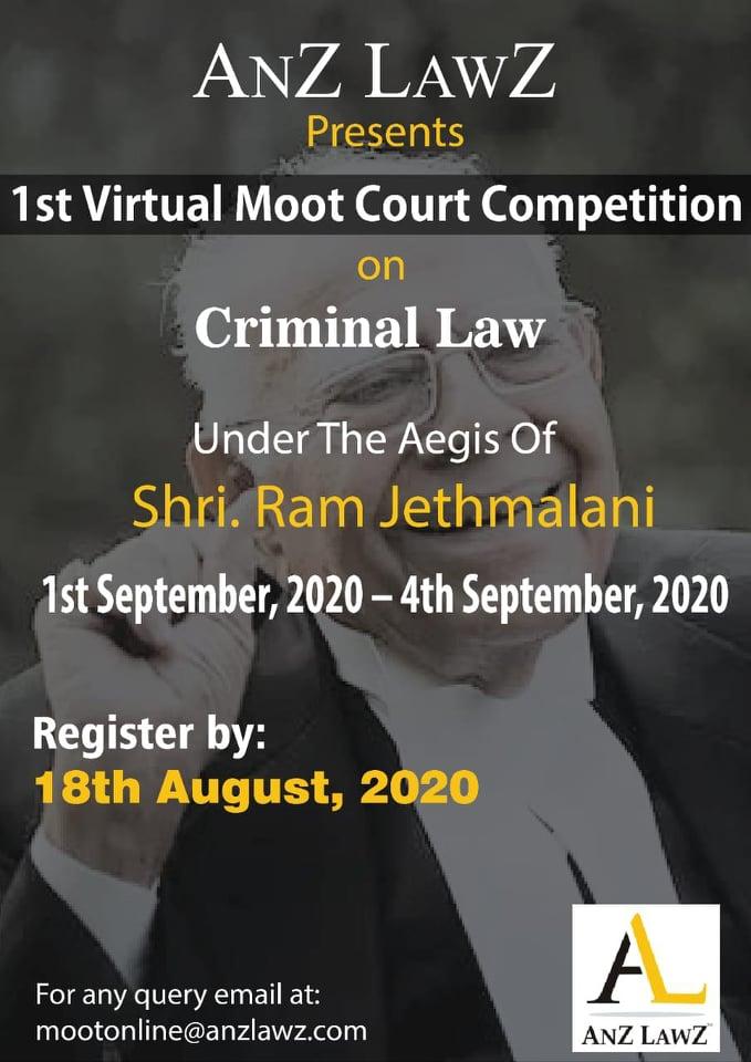 ANZ LAWZs 1st Online Criminal Law Moot (1st-4th Sept)
