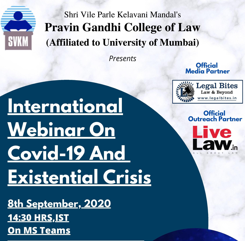 Pravin Gandhi Colleges International Webinar On COVID-19 [8th Sept]