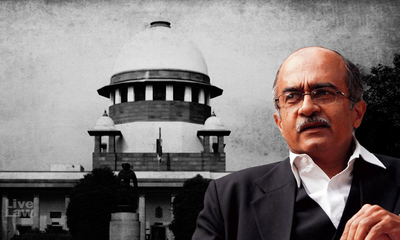 [Breaking] SC Sentences Prashant Bhushan To A Fine Of Rupee One In The Contempt Case Over His Two Tweets [Read Judgment]