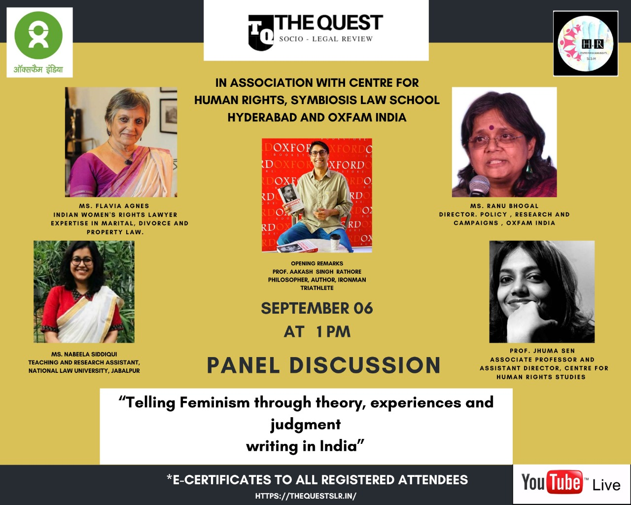 Quest-OXFAM-SLS Panel Discussion: Feminism [6th September]