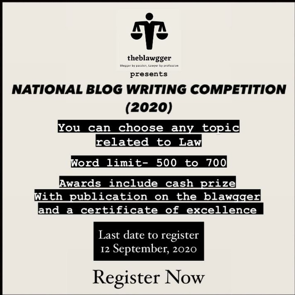 The Blawggers National Blog Writing Competition (2020)