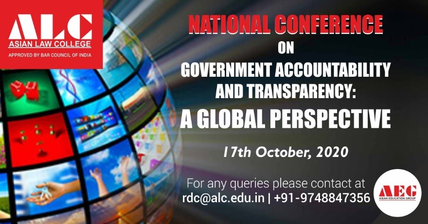 ALC National Conference: Government Accountability & Transparency [17th Oct; Noida]