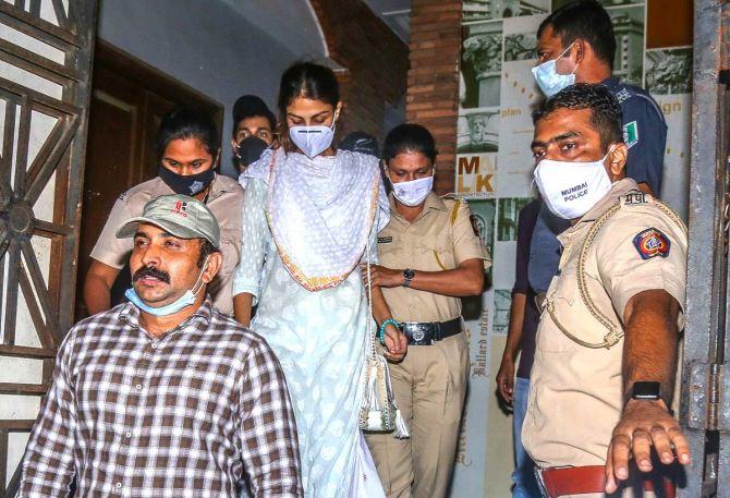 Rhea Chakraborty Arrested In Drug Case By Narcotics Control Bureau