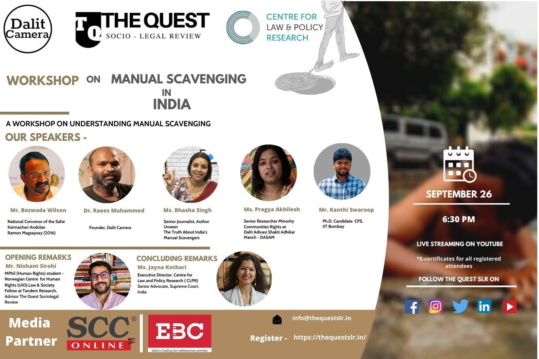 Quest-CLPR-Dalit Camera Workshop: Manual Scavenging [26th Sept]