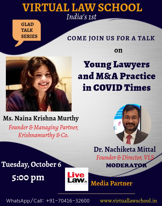 VLS GLAD Talk: M&A Practice In COVID-19 [6th Oct]