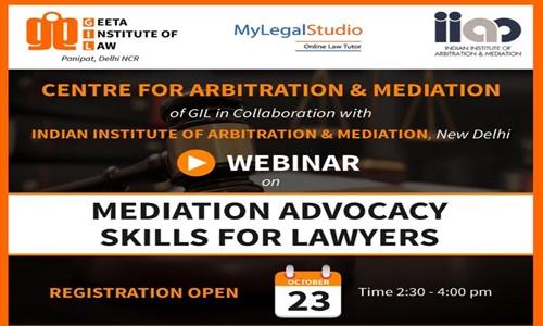 GIL-IIAM Webinar: Mediation Advocacy Skills [23rd Oct]
