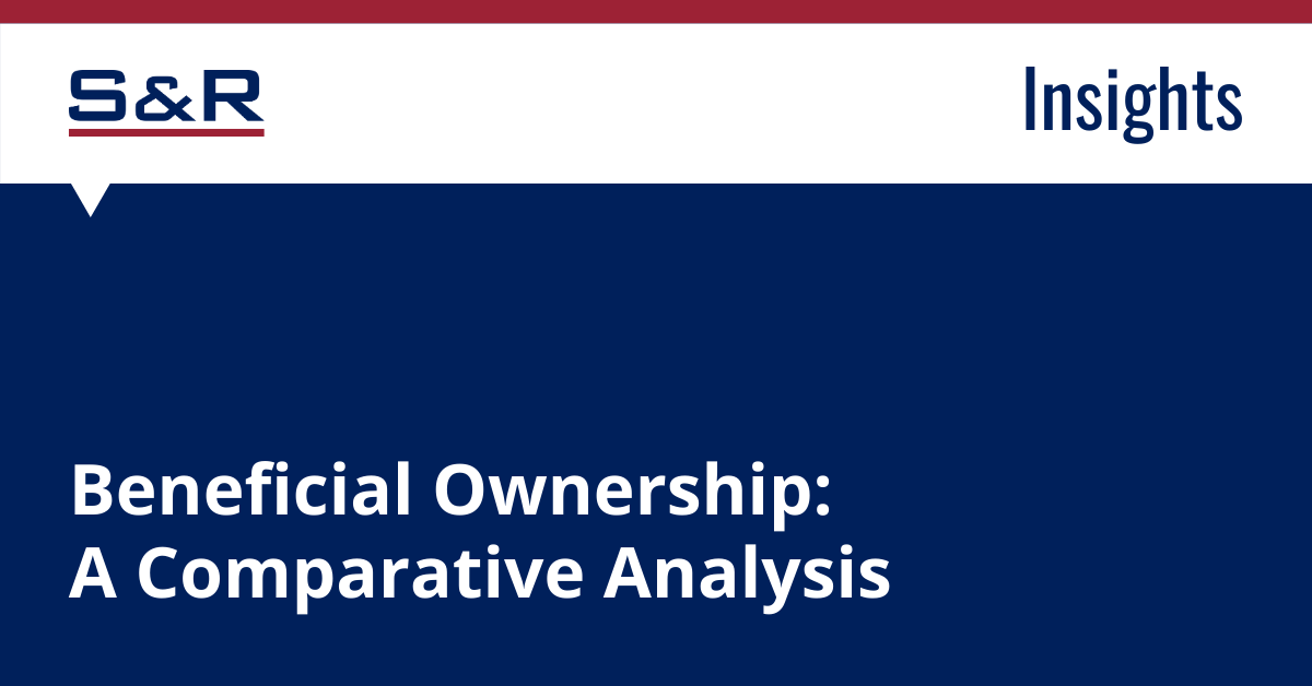 Beneficial Ownership: A Comparative Analysis