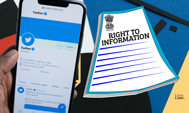 Can A Twitter Account Of The Government Be Considered A Public Authority Under The RTI Act?