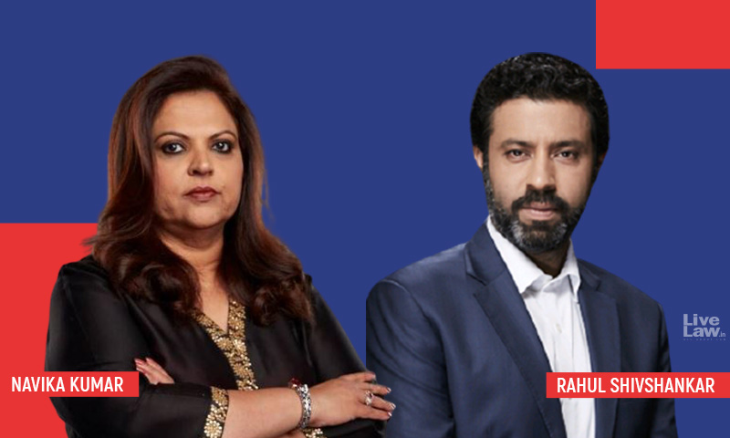 Bollywood v Times Now : Navika Kumar, Rahul Shivshankar Seek Rejection Of Filmmakers Suit; Delhi HC Issues Notice