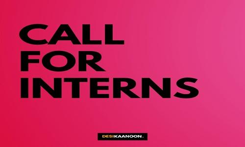 Call For Interns At Desi Kaanoon