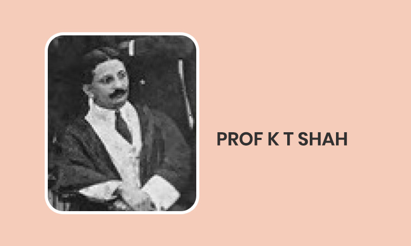 The Forgotten Hero Of Indias Constitution Making: Remembering K.T. Shah On His Birth Anniversary