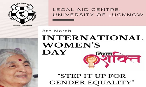 International Womens Day Fiesta 2021 By Legal Aid Centre, Faculty Of Law, University Of Lucknow [8th March 2021]