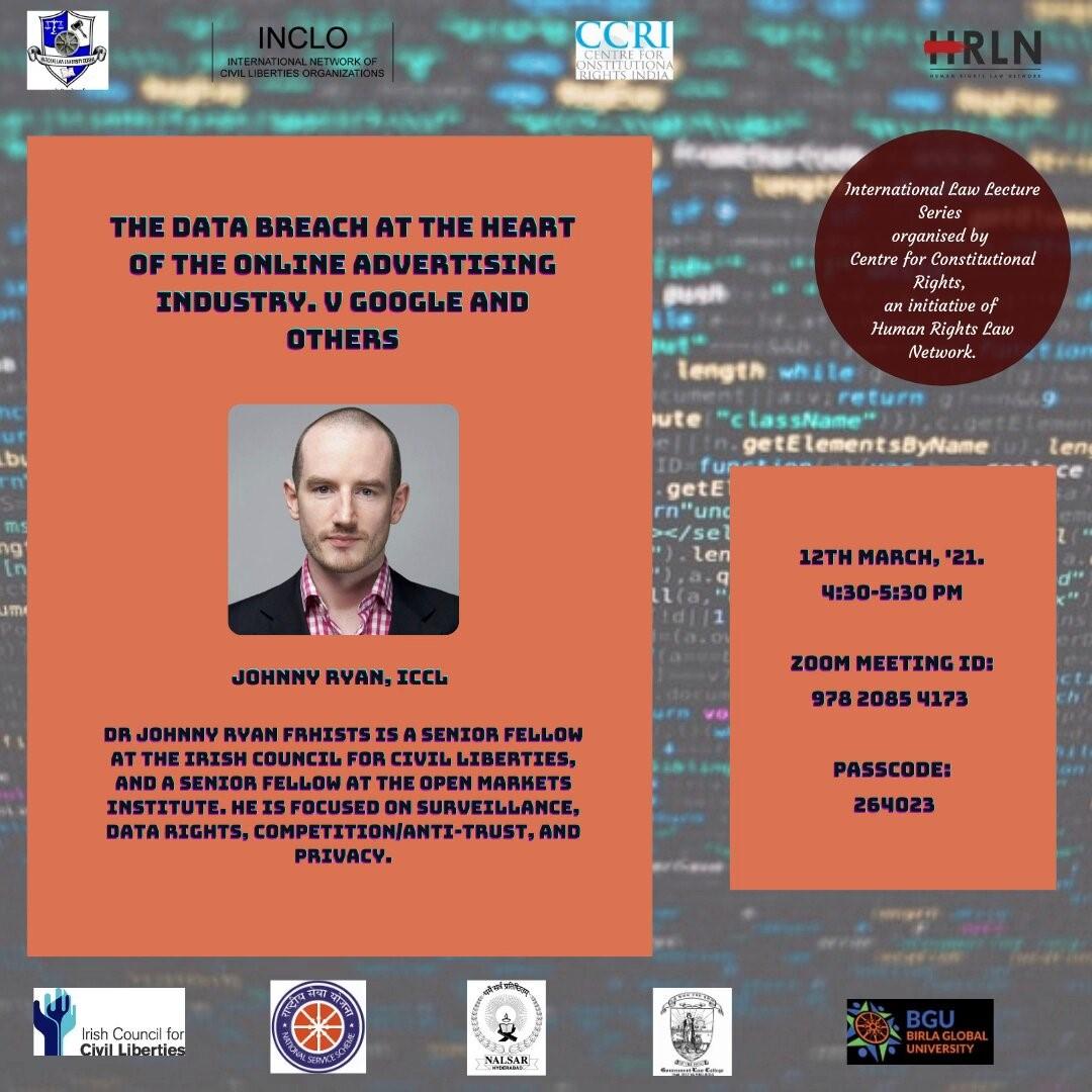CCRI, HRLNs: International Law Lecture Series [Tomorrow, 4:30 PM]