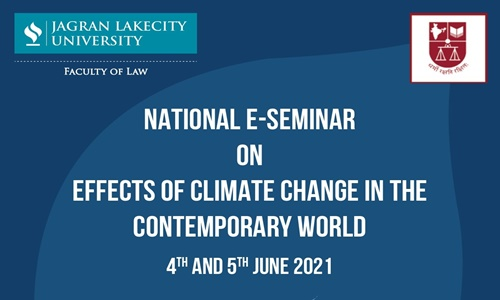 National E-seminar On Effects Of Climate Change In The Contemporary World [4th And 5th June 2021]