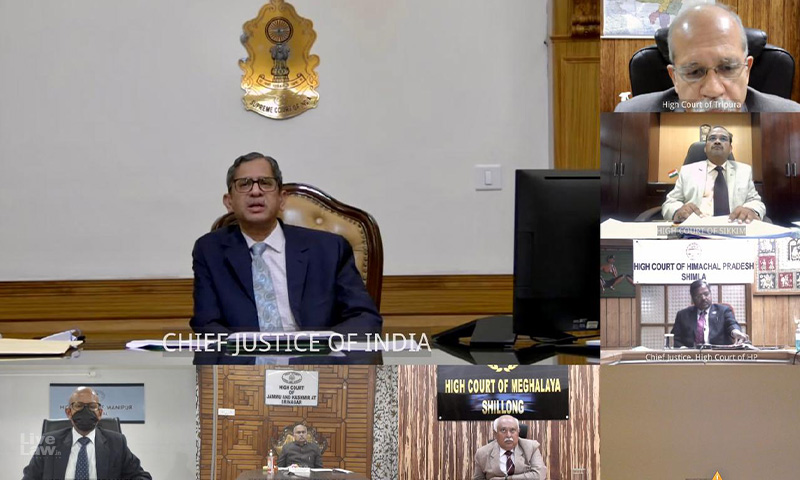 Concerns on Connectivity, Vaccine Supply And Infrastructure Will Be Taken Up By SC Registry With Centre: CJI Ramana Assures High Courts