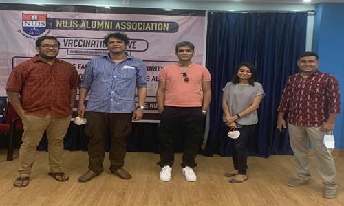 WBNUJS Kolkata: Alumni Association Conducted Vaccination Drive