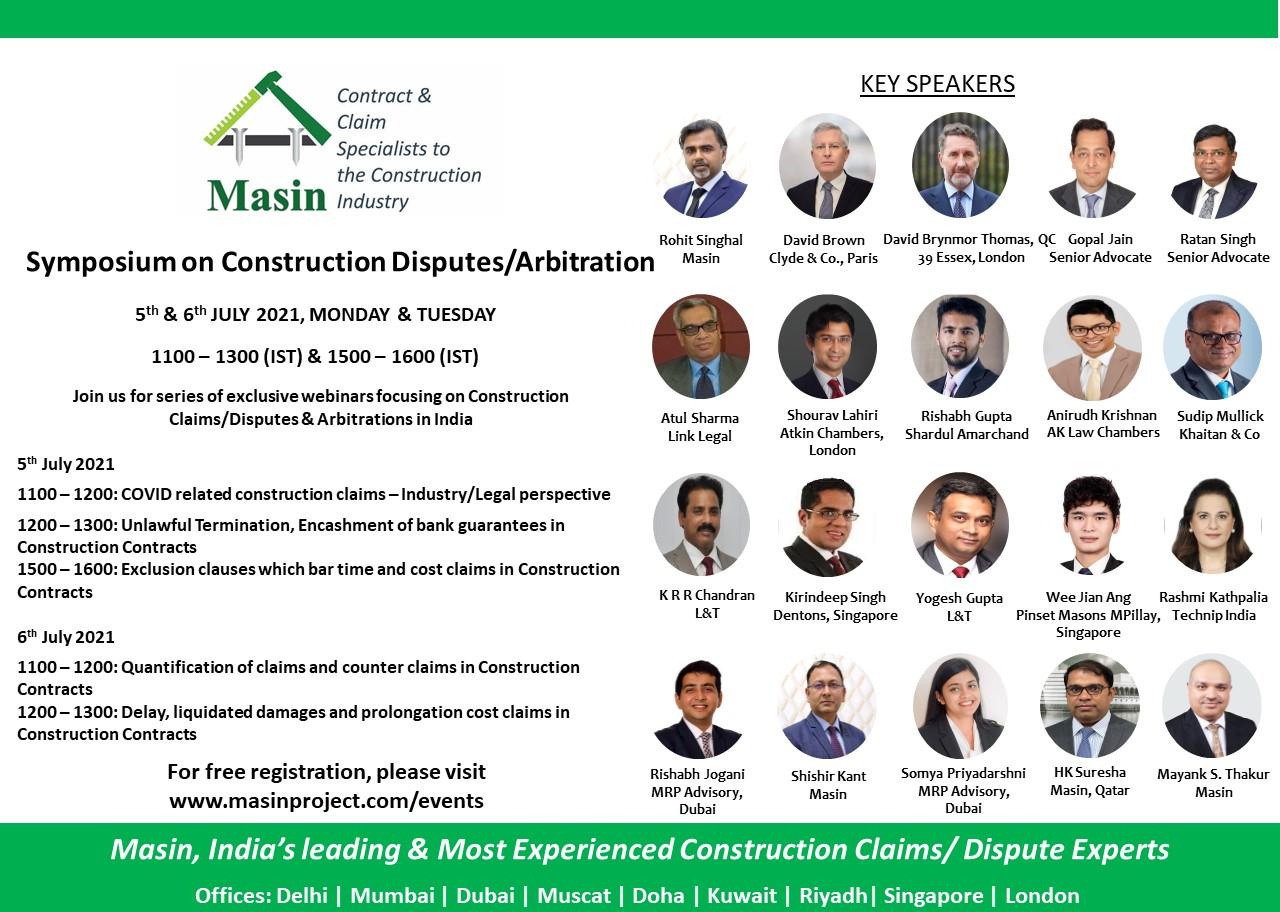Symposium On Construction Disputes/Arbitration