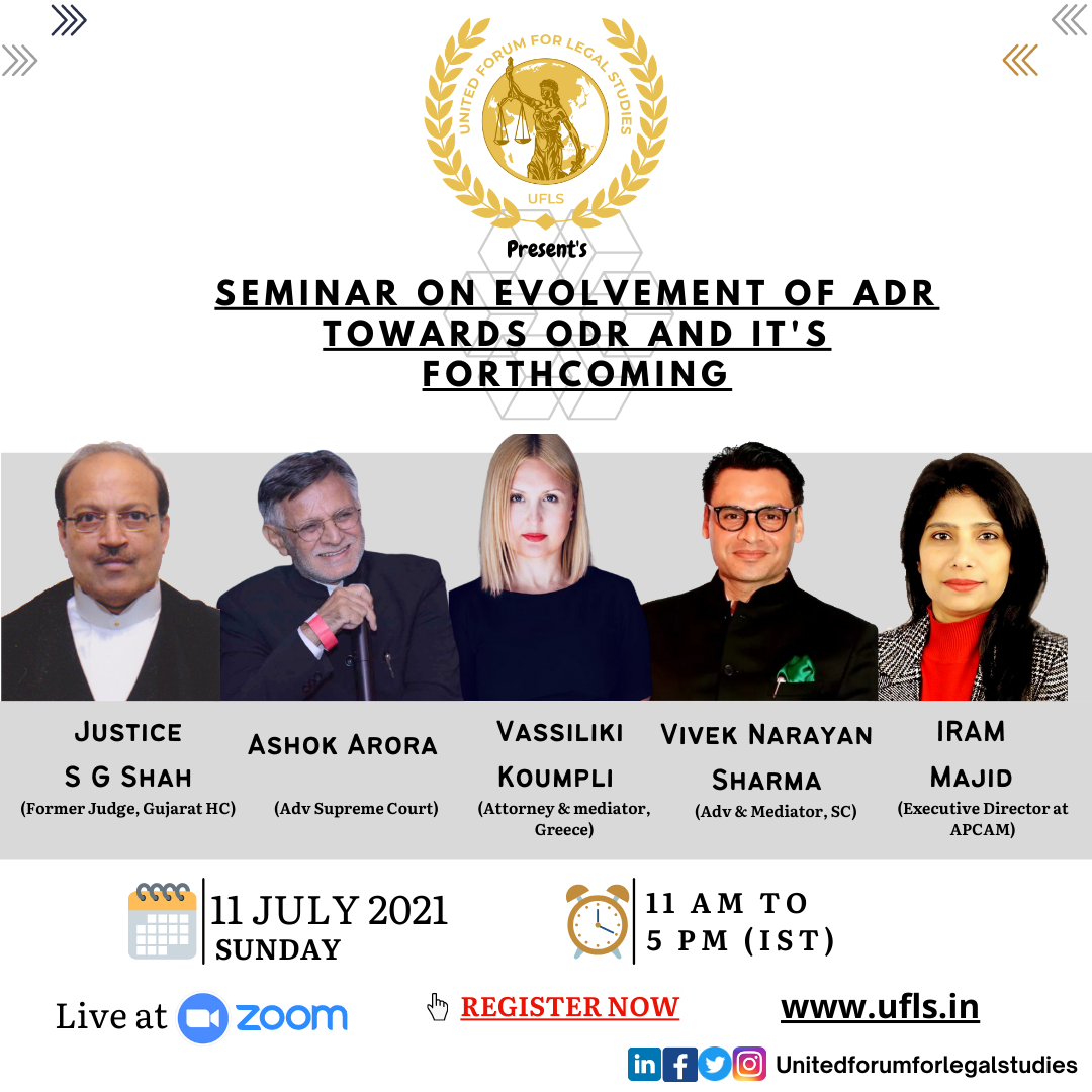 Seminar On Evolvement Of ADR Towards ODR & Itss Forthcoming