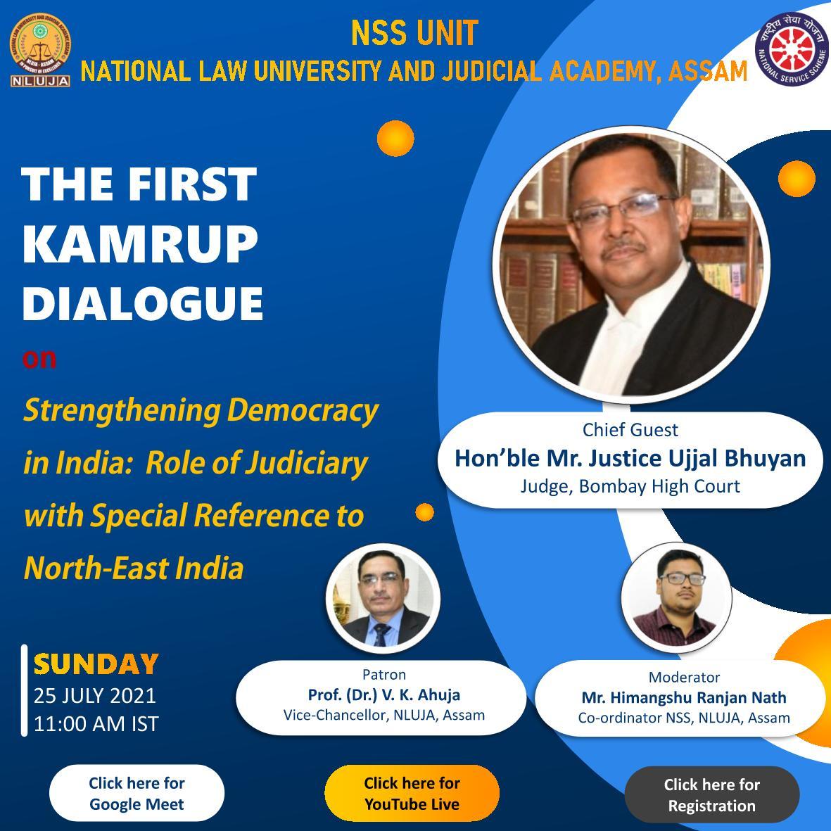 NLU Assam Webinar : The Kamrup Dialogue [Register by 24th July 2021]