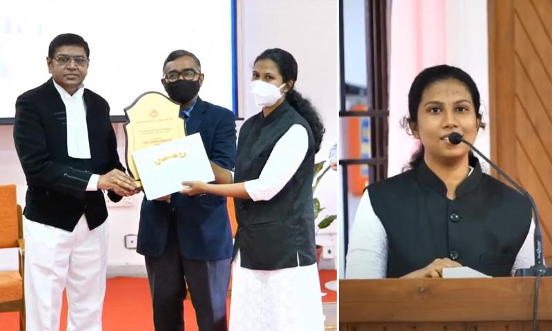 ILI-Kerala Unit Presents P Sukumaran Nayar Memorial Award To Advocate Ammu Charles