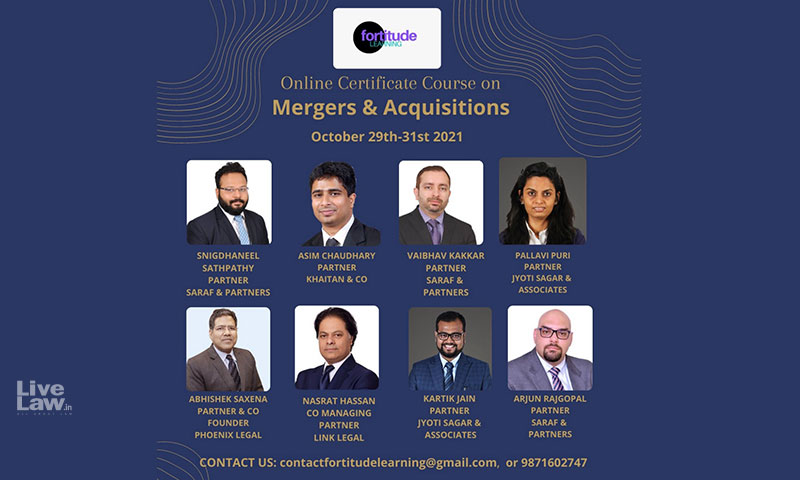 Fortitude Learning: 3 Day Online Certificate Course On Mergers And Acquisitions [October 29th – 31st]