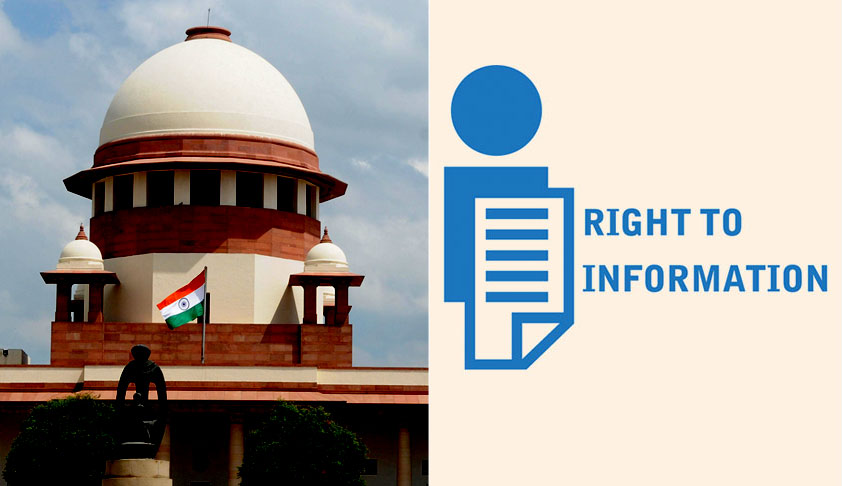 Whether Disciplinary Proceedings Against Employees Is A Personal Information Exempted From Disclosure Under RTI Act? SC Issues Notice [Read Order]